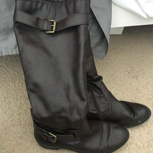 style & co brown boots size 9